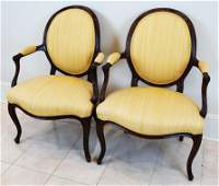 Pair of George III Mahogany Arm Chairs