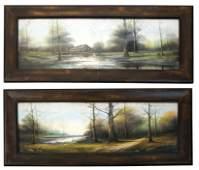 Pair Hudson River School Paintings