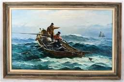 Jack Lorimer GRAY: Fishermen in a Storm - Painting