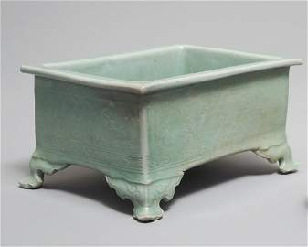 Korean Celadon Rectangular Incense Burner