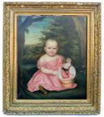 American School - Baby Portrait - Painting