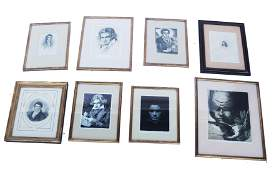 Group of Eight Beethoven Etchings  Engravings