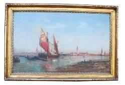 Venetian Canal Scene  Oil Painting