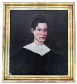 American Early 19th C Portrait  Painting