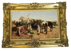 "After Josef BRANDT: ""Oriental Market"" - Painting"