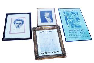 Group of Beethoven Etchings / Engravings