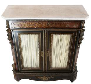 Louis Phillippe Marble Top Cabinet