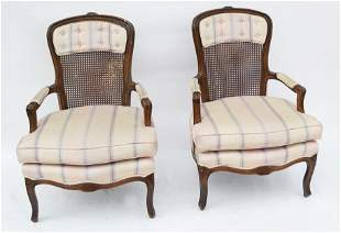 Pair of French-Style Caned Chairs