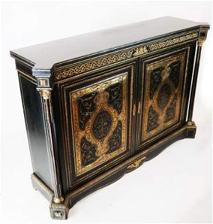 French 19th C. Boulle Inlaid Credenza