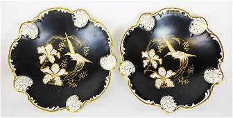 Pair Rosenthal Bird Decorated Bowls