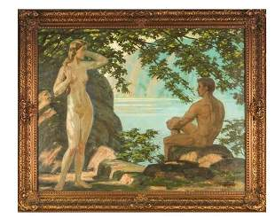 Walter EINBECK: Nude Couple - Oil Painting