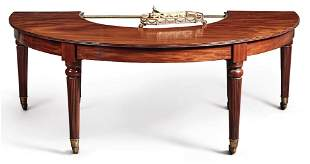 English Regency Half Round Wine Table