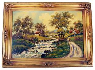 19th C. Continental School - Landscape Painting