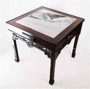 Chinese Carved Mah Jongg Games Table