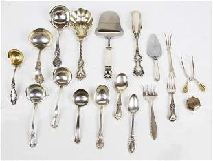 Mixed Lot Sterling Silver Flatware & Servers