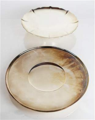 Gorham Sterling Silver Footed Bowl & Dish