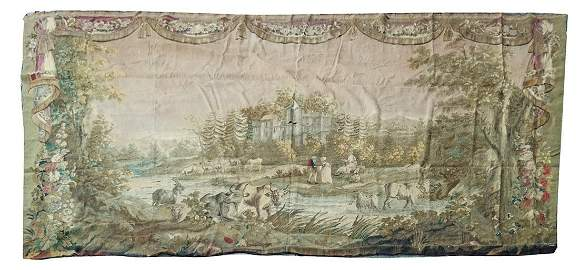 Large Early 18th C. Aubusson Tapestry