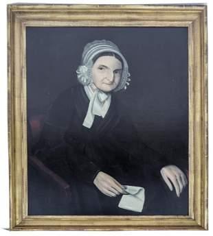 Ammi PHILLIPS: Woman w/ Bonnet - Painting