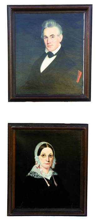 Ammi PHILLIPS: Pair of Portraits - Paintings