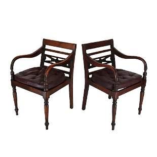 Pair 19th C. Arm Chairs