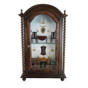 Salesman's Sample Barley Twist Cabinet