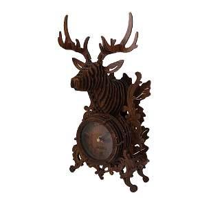 Amy & Benton 3-D Reindeer Desk Clock