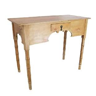 Birdseye Maple, Faux Bamboo Desk