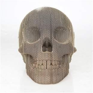Two 3-D Cardboard Skulls