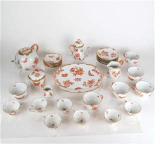 "Herend ""Chinese Bouquet"" Tea Service - 30 Pcs"