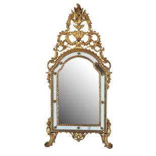 Antique Italian Carved Gilt Wood Mirror