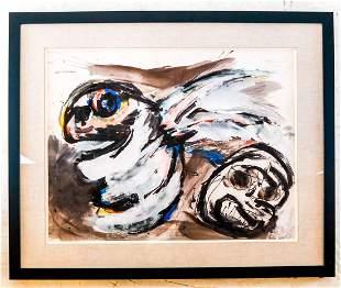 "Karel APPEL: ""Untitled"" - Gouache on Paper"