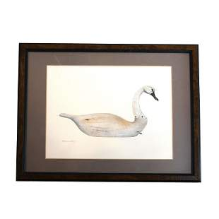 Kathryn HERRY: Wooden Decoy - W/C Painting