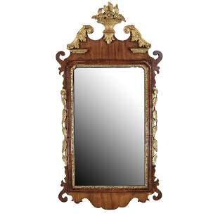 American Mahogany & Gilt Mirror