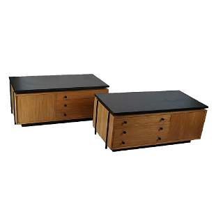 Pair of Manner of Paul McCobb Low Chests