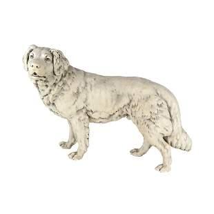 Ceramic Dog Sculpture