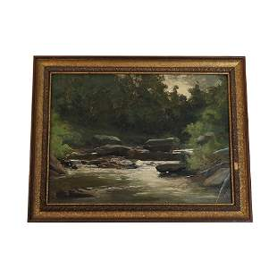 F.F. PELL [?]: Landscape - Oil Painting