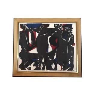 "Hap GRIESHABER: ""Rabbi"" - Woodblock Print"