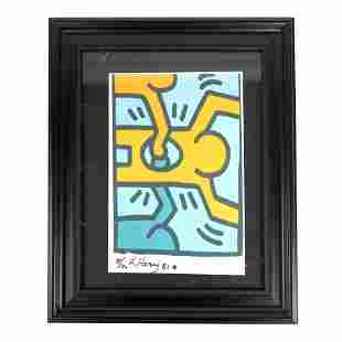 "Keith HARING: ""Figures 81"" - Lithograph"