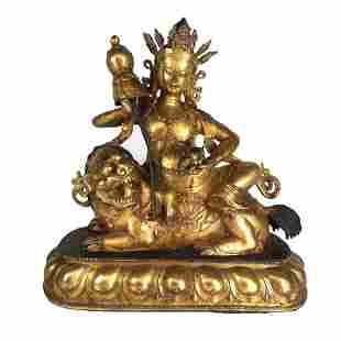Tibetan Bronze Deity Group