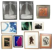 10-Pc. Group: 9 Art Works & Prints, Textile