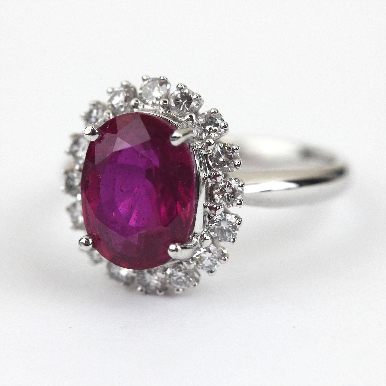 African Ruby Full Cut Ring
