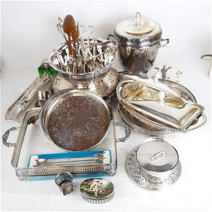 Lot of Silver Plate Articles