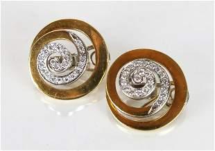 Pair 18K Gold Earrings