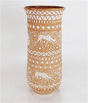 Modern Hand-Made Greek Pottery Vase