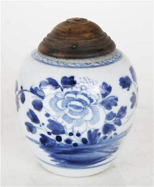 Ming Dynasty Blue & White Lidded Jar