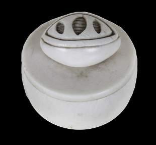 African Soapstone Lidded Jar