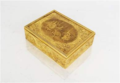 20th C. French Gilt Metal Table Box