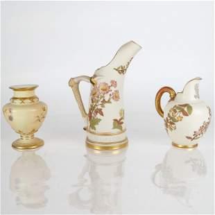 Three Pcs. Royal Worcester Porcelain