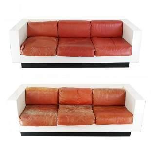 """Pair of Massimo Vignelli """"Saratoga"""" Sofas"""