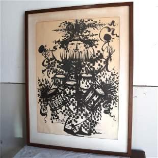 Large Bjorn Winblaad Lithograph